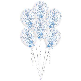 Imagen de Globos con confeti azul (6)