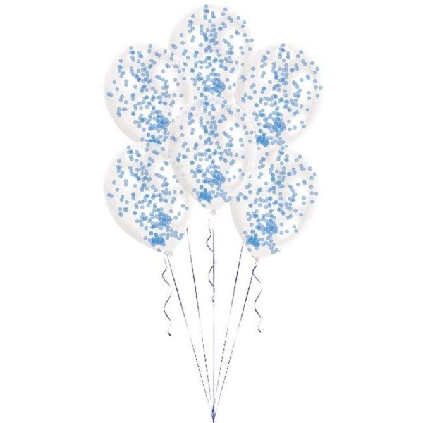 Picture of Globos con confeti azul (6)