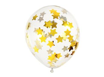 Picture of Globos confeti estrellas doradas (6)