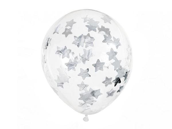 Imagens de Globos confeti estrellas plateadas (6)