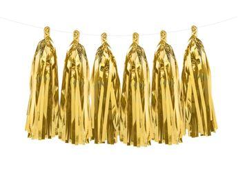 Imagens de Guirnalda borlas doradas