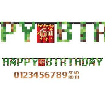 Imagen de Banderín letras Minecraft