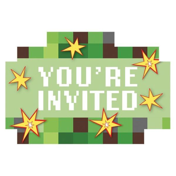 Picture of Invitaciones Minecraft (8)