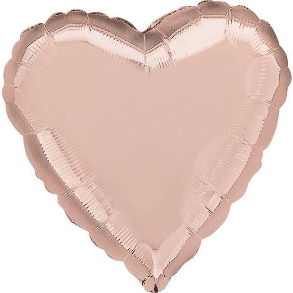 Imagen de Globo corazón rosa dorado jumbo