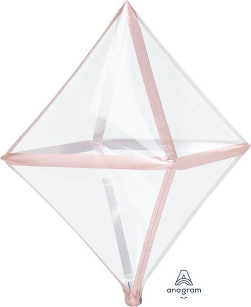 Imagens de Globo Octaedro transparente borde rosa dorado