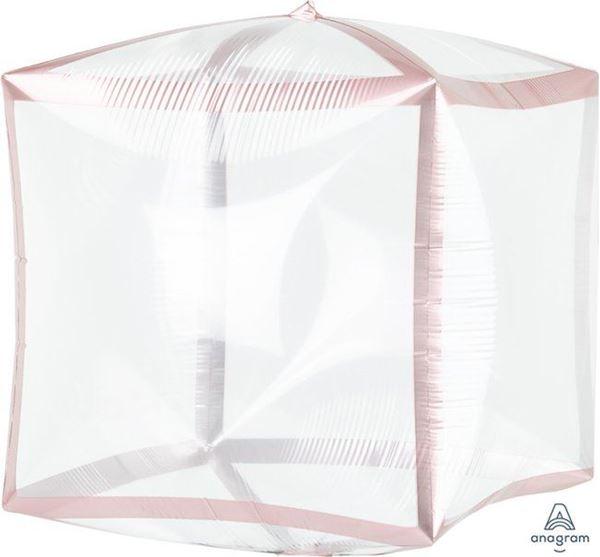 Imagens de Globo cubo transparente borde rosa dorado