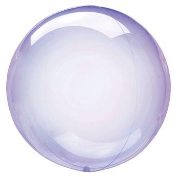 Imagen de Globo burbuja transparente morado plástico 45cm