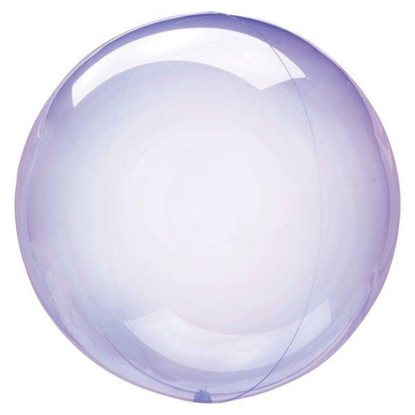 Imagens de Globo burbuja transparente morado plástico 45cm