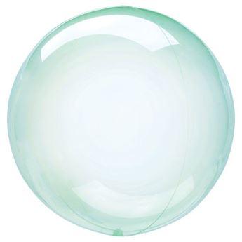 Picture of Globo burbuja transparente verde plástico 45cm