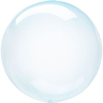 Imagen de Globo burbuja transparente azul plástico 45cm