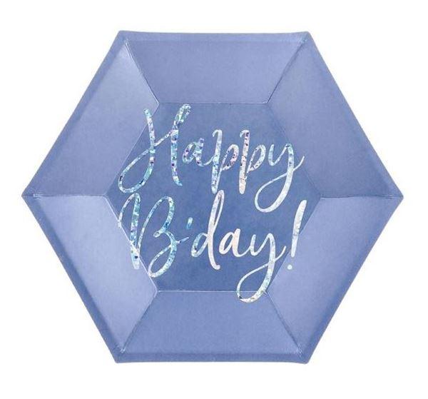 Imagens de Platos Happy Birthday azul 20cm (6)