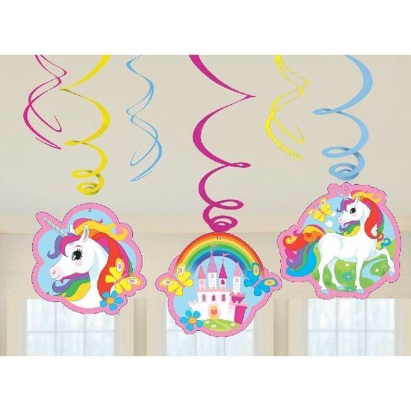 Imagen de Decorados espirales unicornio rosa (6)