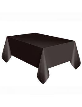 Imagens de Mantel negro plástico rectangular