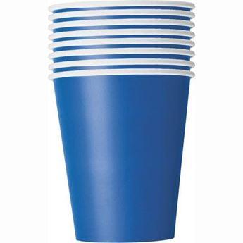 Imagen de Vasos azul Royal de cartón (8)
