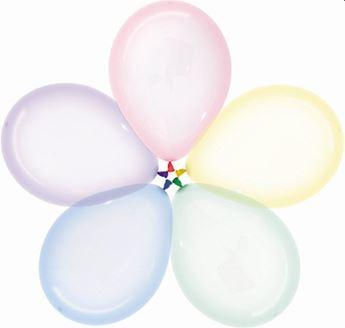 Imagen de Globos Colores Pastel Cristal 30cm R12-301 (50)