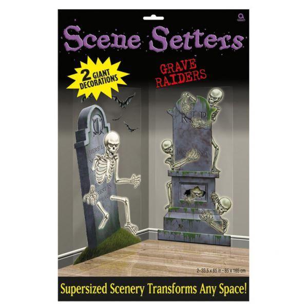 Imagens de Decorados esqueletos salen de sus tumbas (2)