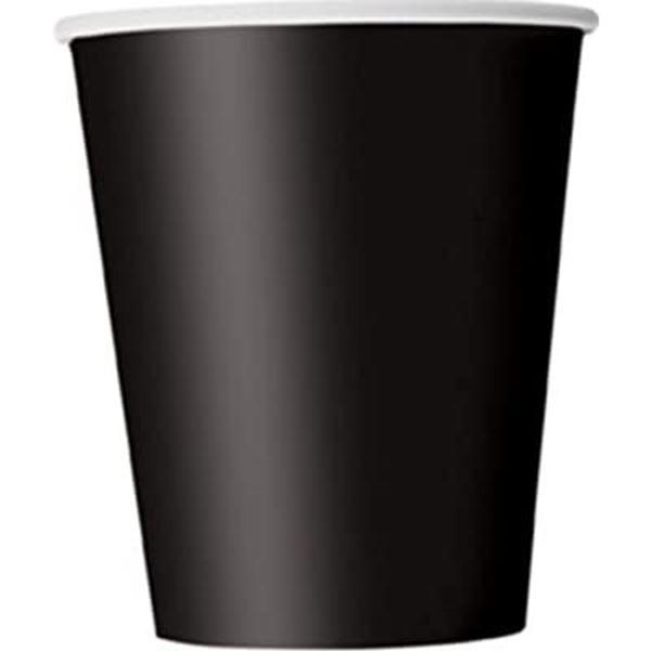 Picture of Vasos negros antracita de cartón (8)