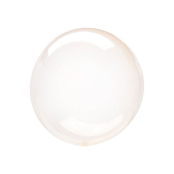 Imagen de Globo burbuja transparente naranja plástico 25cm