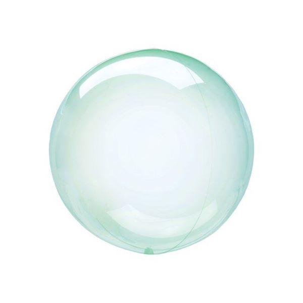 Imagen de Globo burbuja transparente verde plástico 25cm
