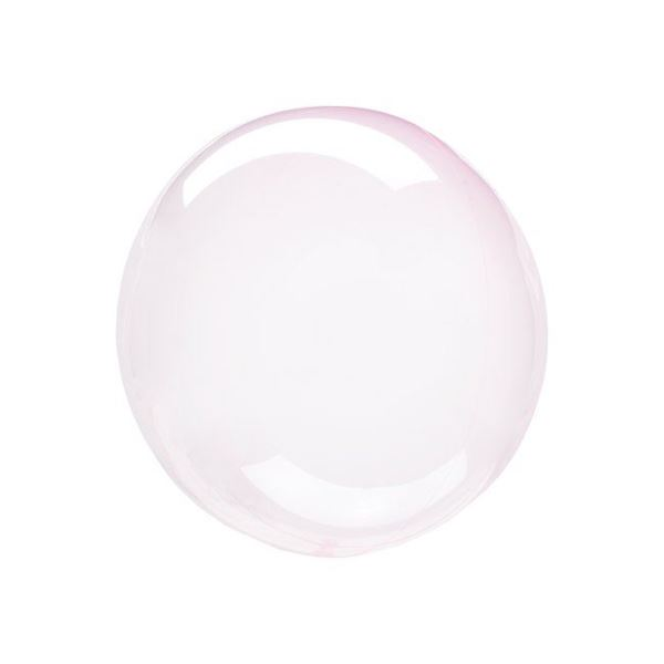 Imagen de Globo burbuja transparente rosa claro plástico 25cm
