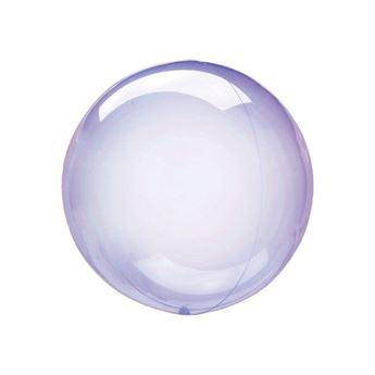Imagen de Globo burbuja transparente morado plástico 25cm