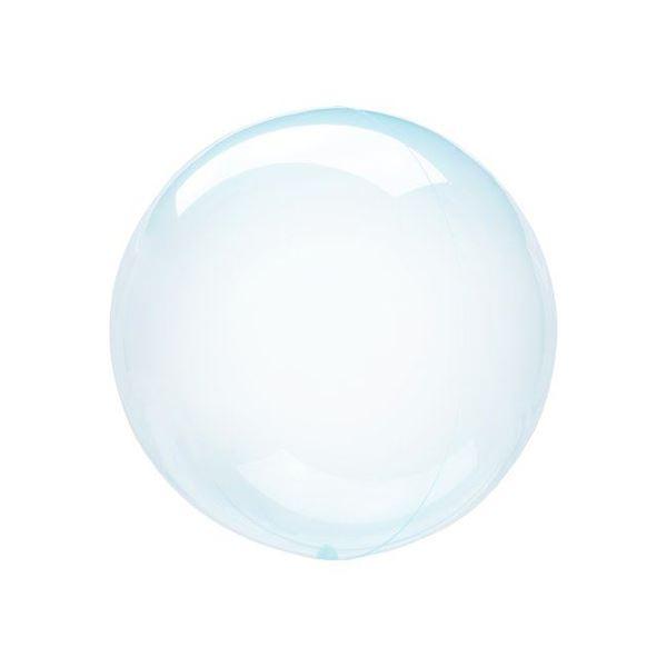 Picture of Globo burbuja transparente azul plástico 25cm