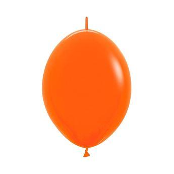 Imagens de Globos Naranja Fashion Sólido 15cm cadena LOL6-061 (50)