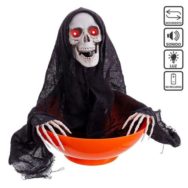 Imagens de Cuenco Halloween caramelos con movimiento luz y sonido