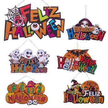 Picture of Cartel Feliz Halloween infantil (37cm)