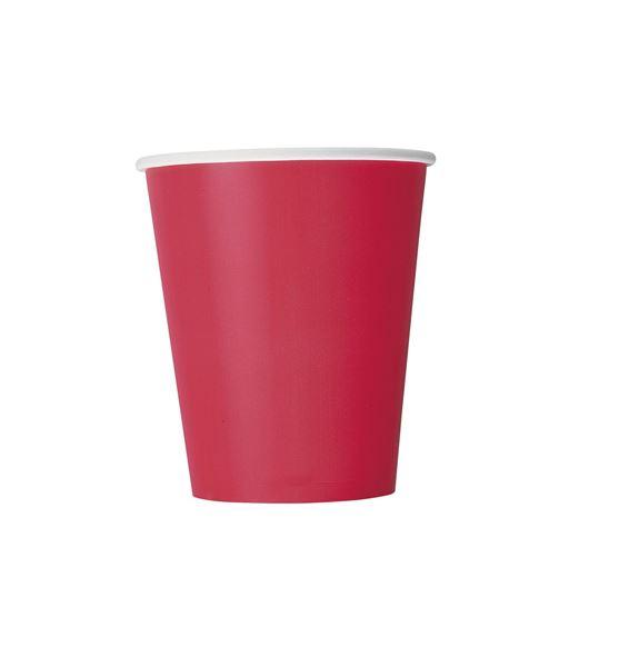 Imagens de Vasos rojo rubí de cartón (8)