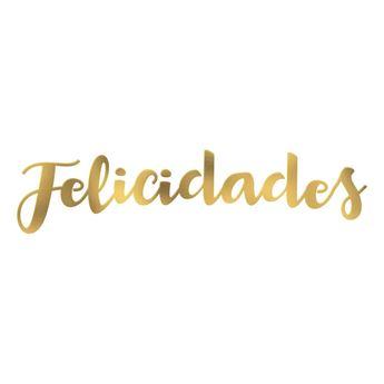 Imagen de Guirnalda letras metalizadas FELICIDADES colores surtidos