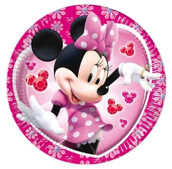 Imagen de Platos Minnie Mouse rosa pequeños (8)