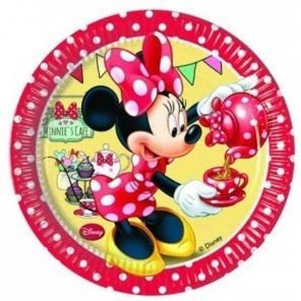 Picture of Platos Minnie Mouse rojos pequeños (8)