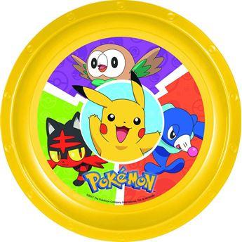 Imagen de Plato Pokémon plástico duro reutilizable
