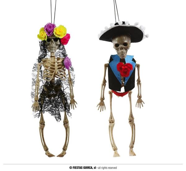 Picture of Esqueletos dia de los muertos colgantes 40cm (2)