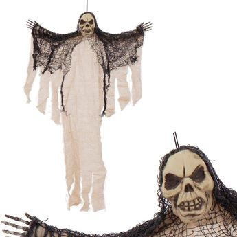 Imagens de Figura Colgante calavera Muerte beige 60cm