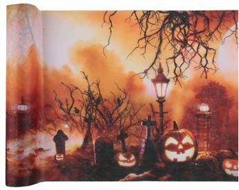 Imagen de Camino de mesa calabaza noche de Halloween (5m)