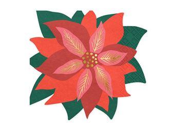 Imagen de Servilletas forma Poinsettia Navidad (20)