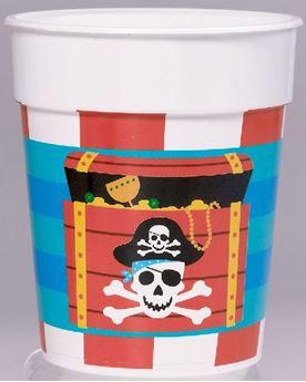 Picture of Vaso plástico duro Pirata del tesoro (473ml)