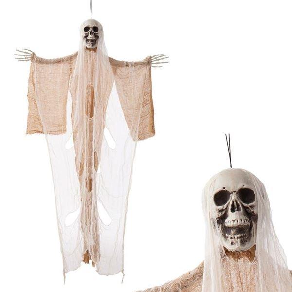 Picture of Figura Colgante calavera Muerte beige 150cm