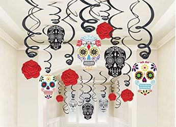 Imagen de Decorados espirales Catrinas Día de los Muertos (30)