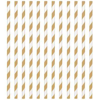 Imagen de Pajitas con rayas doradas (24)