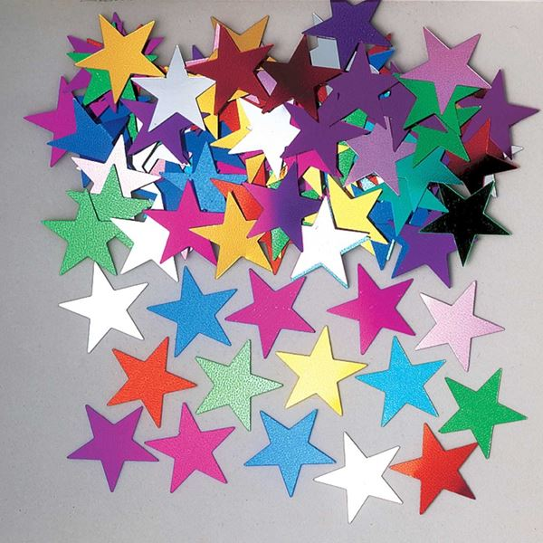 Imagens de Confeti estrellas multicolores (14g)