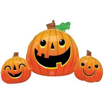 Imagen de Globo Calabazas sonrientes Halloween (88cm)